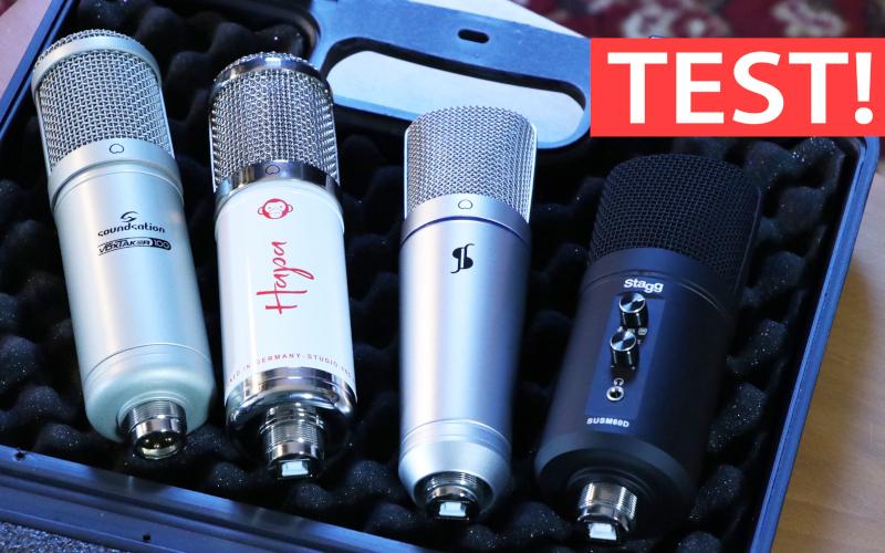 TEST: Cztery mikrofony pojemnościowe do 400 PLN